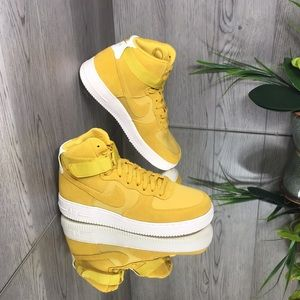 ❤️ Nike Air Force 1 High '07 Suede Yellow Ochre/Ye